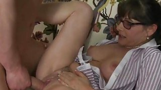 Stepmom showing young slut how to fuck Thumbnail