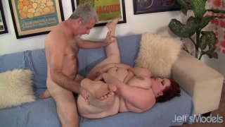 Big Breasted BBW Eliza Allure Devotes Her Pussy and Mouth to a Stiff Prick Thumbnail