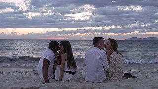 Interracial foursome with DP Thumbnail