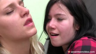 Foursome lesbian orgy with Tessa Sara and Christina. Thumbnail