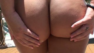 Maddy Oreilly bis ass bbw blonde sucks and rides cock on POV video. Thumbnail