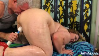 Old Masseur Uses Oil and Toys to Satisfy Plumper Babe Nikky Wilder