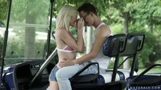 Beautiful anal sex with sensual angel Zazie Skymm in the summer garden Thumbnail
