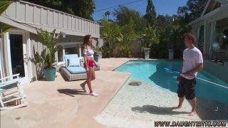 Teens love huge cocks college Nina North Fucks The Pool Man Thumbnail